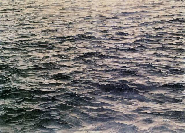 Vija Celmins. Untitled (Big Sea #1), 1969