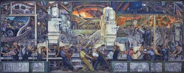 Diego Rivera - Detroit Murals - North Wall Main