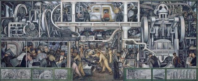 Diego Rivera - Detroit Murals - South Wall Main