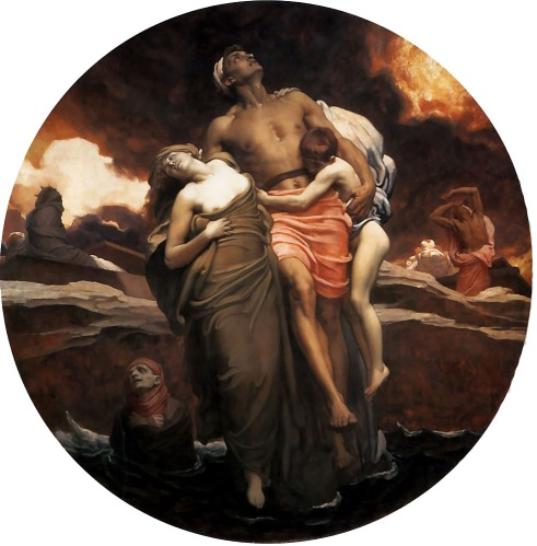 Sir Frederic Lord Leighton - And The Sea Gave Up The Dead Which Were In It (1892)