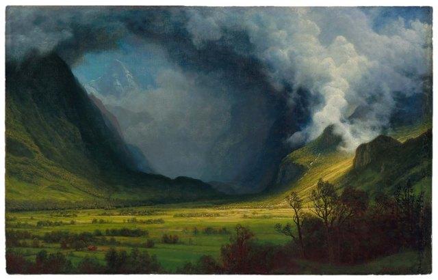 Albert Bierstadt - Storm in the Mountains (c. 1870)