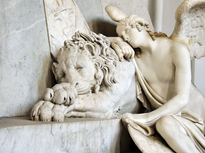 Antonio Canova - Cenotaph for Marie Christine of Austria [detail] (1805)