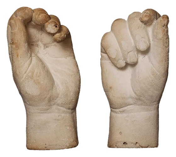 Casts of Joseph Arch_s Hands