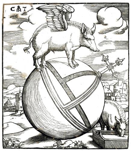 Cornelis Anthonisz - Het gevleugelde varken op de wereld (1541 - 1545 )
