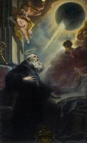 Cosmas Damian Asam -Vision of St. Benedict, 1735