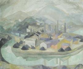 Daniel Vázquez Díaz - The Factory in the Mist (c. 1920)