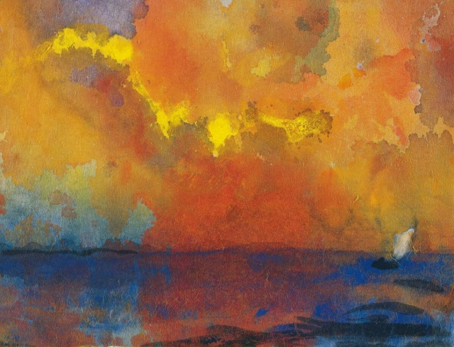 Emil Nolde - Meer im Abendlicht [Sea in the Evening Light] (c. 1938-1945)