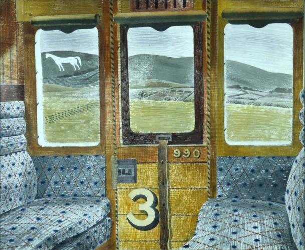 Eric Ravilious -Train Landscape, 1940