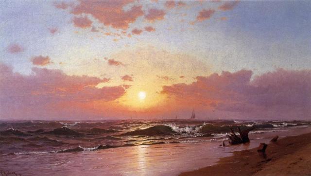 Francis A. Silva - Sunrise, Barnegat Beach, New Jersey (1875)