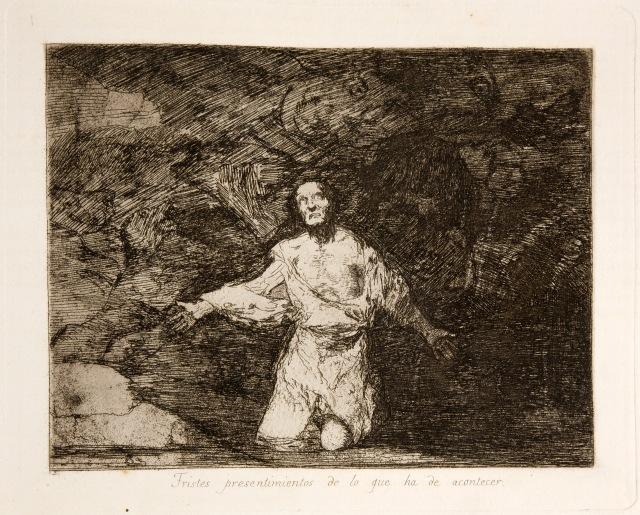 Francisco Goya - Tristes Presentimientos de lo que ha de Acontecer [Wretched Forebodings of Things to Come] (1814-1815)