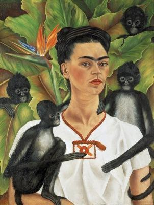 Frida Khalo - Self-Portrait with Monkeys (1943)