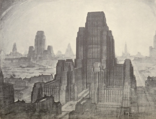 Hugh Ferriss - The Metropolis of Tomorrow (1929)