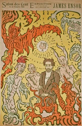 James Ensor - Poster for the Salon (1898)