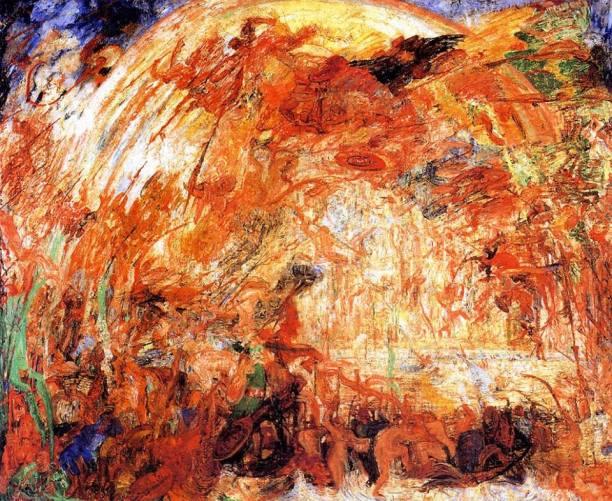 James Ensor - The Expulsion of the Fallen Angel (1889)