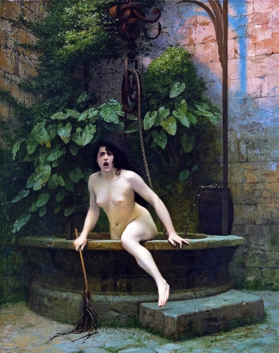 Jean-Léon Gérôme Truth Coming Out of Her Well to Shame Mankind (1896)