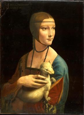 Portrait of Cecilia Gallerani (Lady with the Ermine), about 1488