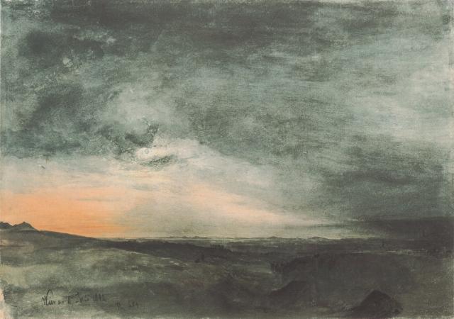 Rudolf von Alt- Solar Eclipse, Vienna (1842)