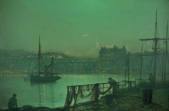 Grimshaw, John Atkinson, 1836-1893; Scarborough Lights