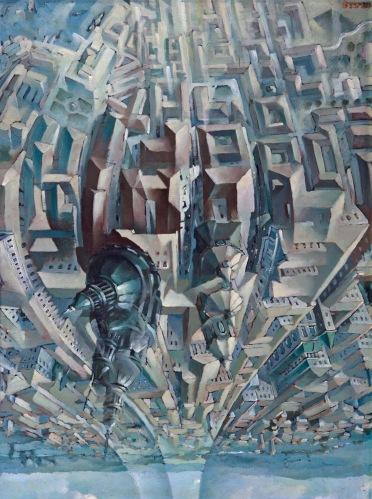Tullio Crali - Upside Down Loop (Death Loop) (1938)