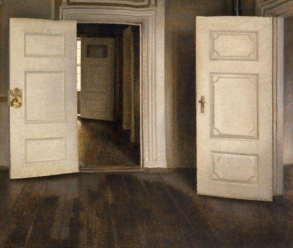 Vilhelm Hammershøi - Open Doors (1905)