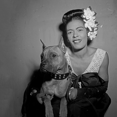 William Gottlieb - Portrait of Billie Holiday and Mister, Downbeat, New York, NY (ca. Feb. 1947)