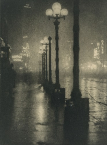 Alvin Langdon Coburn - Broadway at Night (c. 1910)