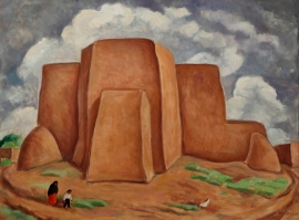 Anna Skeele - Rancho Church, New Mexico (1930)