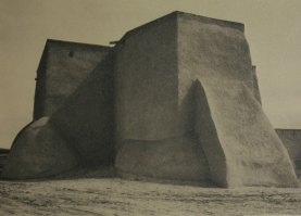 Ansel Adams - Saint Francis Church, Ranchos de Taos, New Mexico (1929)