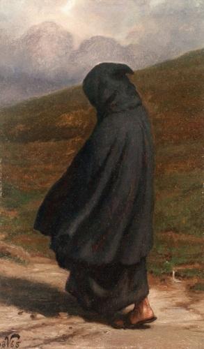 Elihu Vedder - The Gloomy Path (1865)