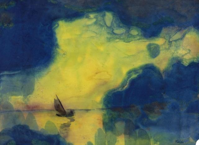 Emil Nolde - Meer bei Abenddämmerung