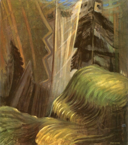 Emily Carr - Forest Interior in Shafts of Light (c. 1935-1937)
