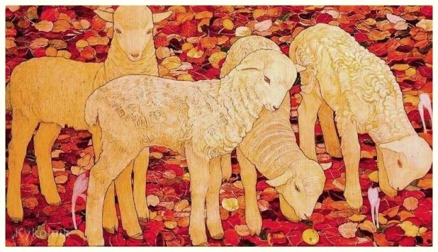 Ernest Bieler - Les Moutons à Montorge (1913)