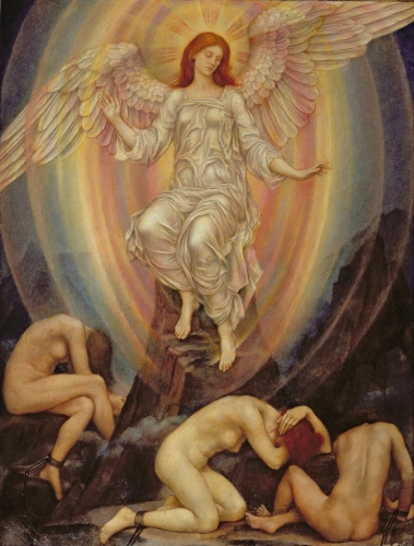 Evelyn de Morgan - The Light Shineth in Darkness and the Darkness Comprehendeth it Not (1906)