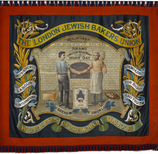 Flag of the London Jewish Bakers Union (1925)