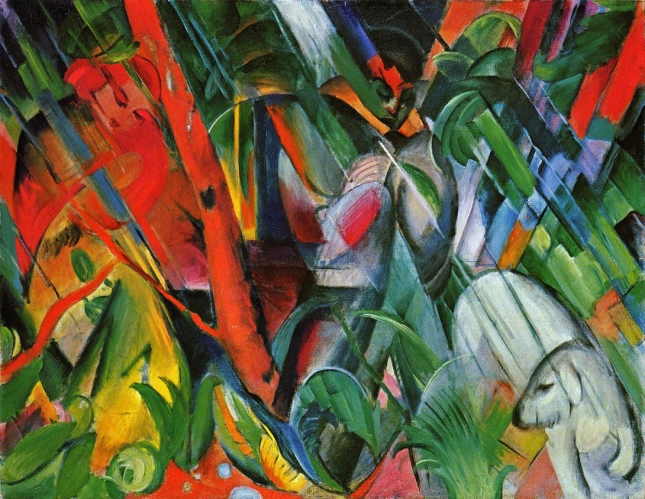 Franz Marc - In the Rain (1912)