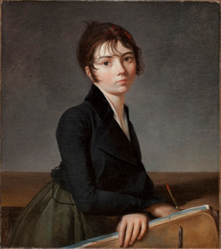 Guillaume Guillon-Lethiere - Girl with Portfolio (1799)