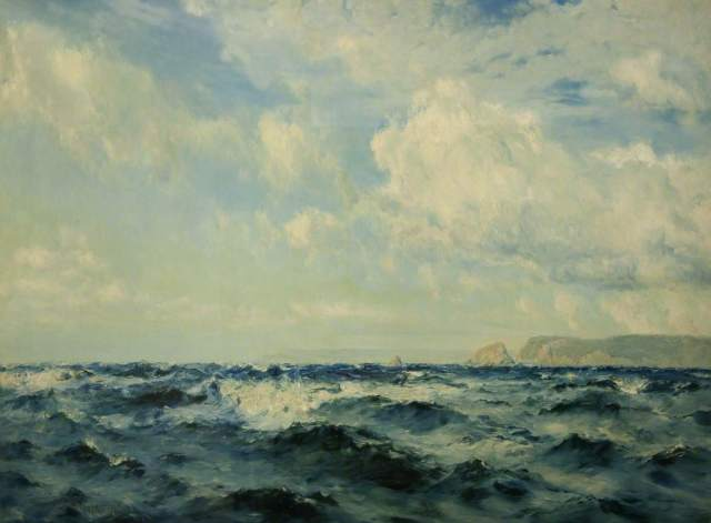 Moore, Henry, 1831-1895; A Breezy Day off the Isle of Wight