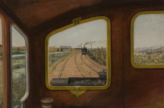 Garratt, Herbert William, 1864-1913; View through the Front Window of a Steam Locomotive*