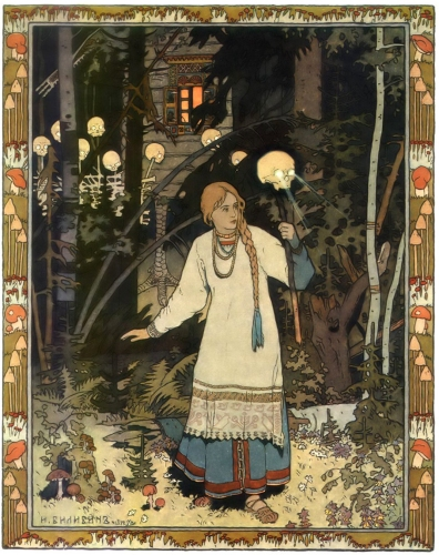 Ivan Bilibin - Vasilisa the Beautiful (1899)