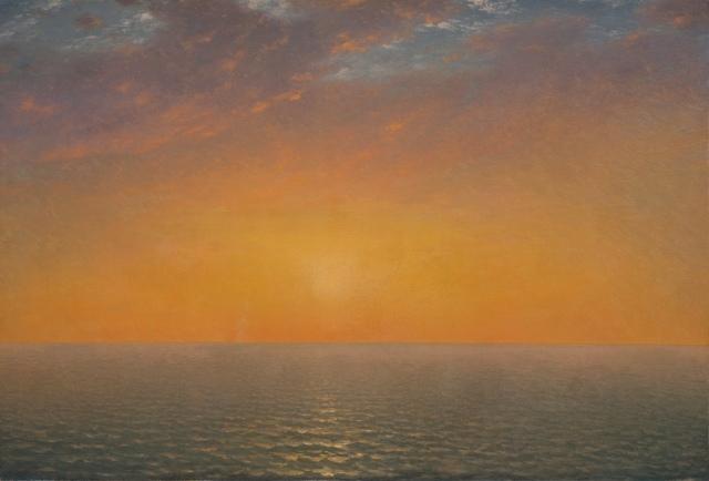 John Frederick Kensett - Sunset on the Sea (1872)