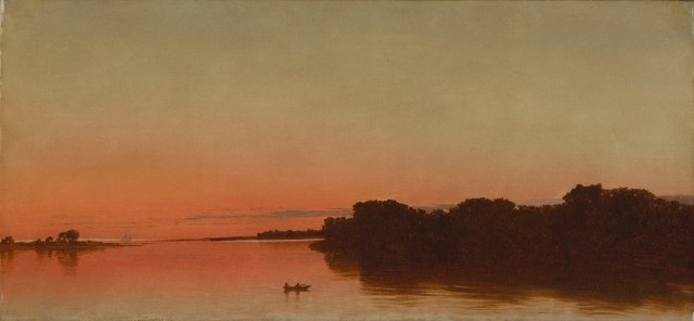 John Frederick Kensett - Twilight on the Sound, Darien, Connecticut (1872)