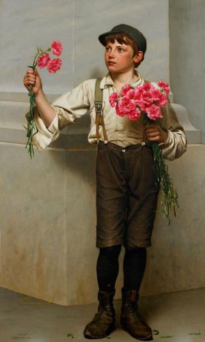 John George Brown - Three for Five (1890)