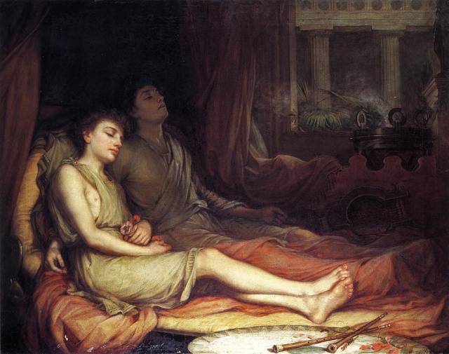 John William Waterhouse - Sleep and His Half-Brother Death (1874)