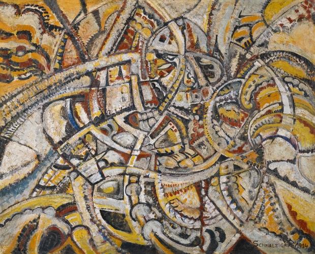 Jules Schmalzigaug - Futurist Composition (1914)