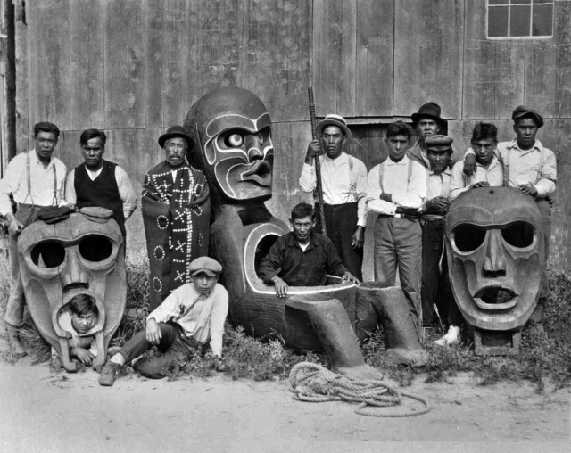 Kingcome Village Totem Pole Carvers c. 1926