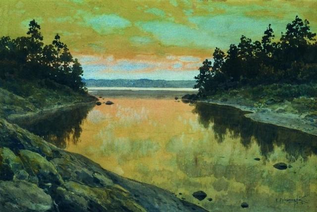 Konstantin Kryzhitsky - River (1896)