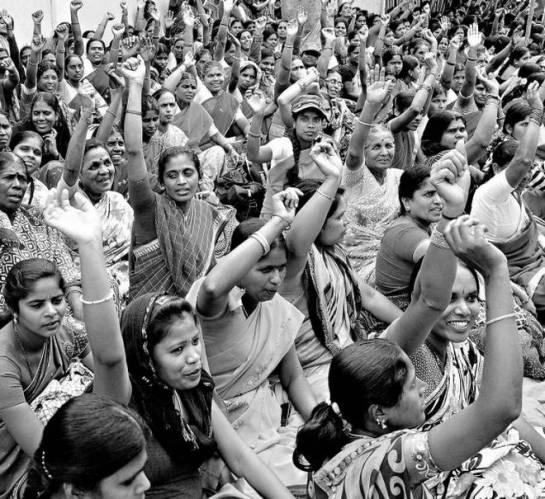 M.A. Sriram - Striking anganwadi workers (2014)
