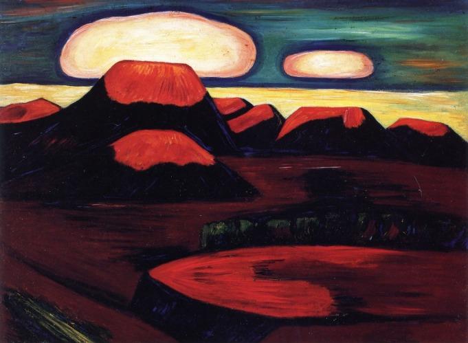 Marsden Hartley - Earth Cooling, Mexico (1932)