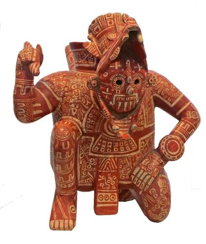 Rain-god vessel (1200-1500 CE); Mexico, Colima, el Chanal