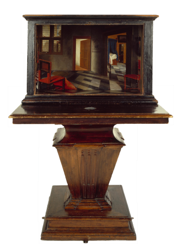 Samuel van Hoogstraten - Peepshow with Views of the Interior of a Dutch House (c. 1655-60)